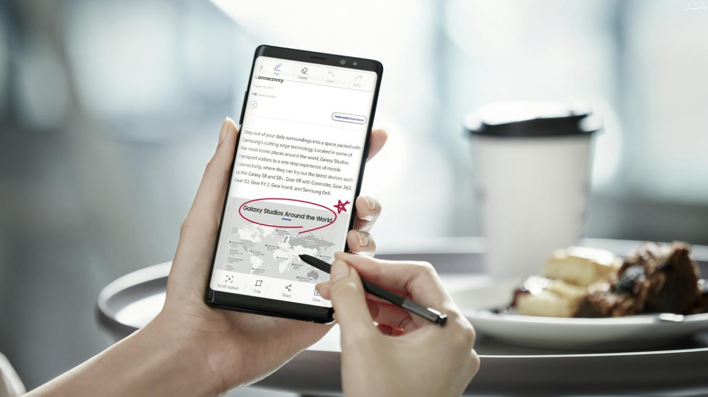 Galaxy Note8 Screen Capture and Write